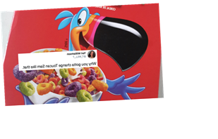 These Tweets About Froot Loops' Toucan Sam 2020 Redesign Don't Hold Back