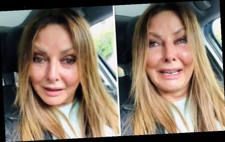 Carol Vorderman breaks down in tears after being 'harassed' outside home: 'Frightened me'