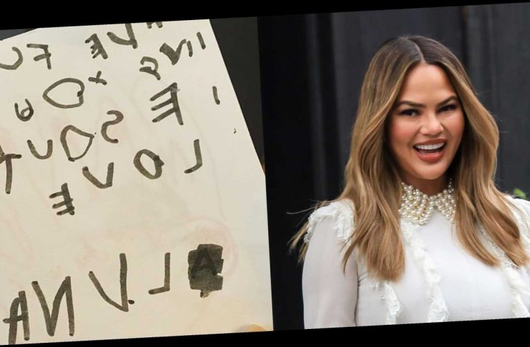 "Chrissy Teigen Received a Hilarious ""Get Well Soon"" Card from Her Daughter"