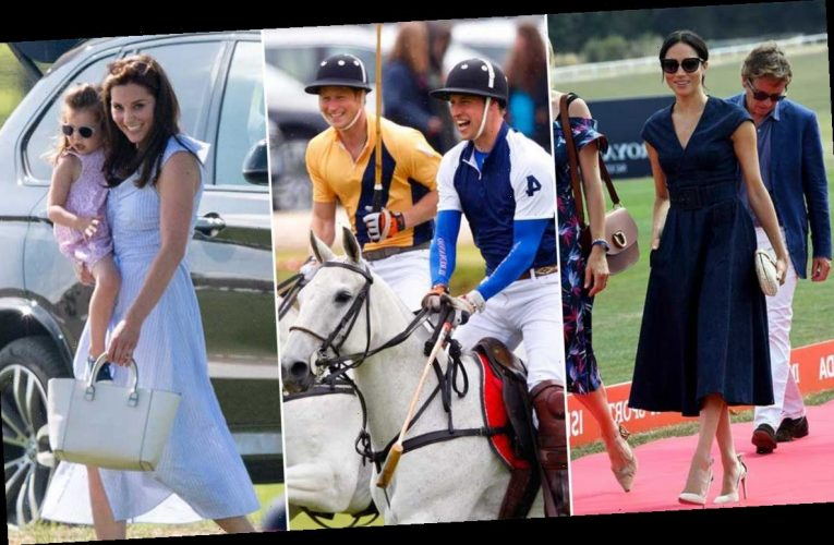 15 incredible photos of Meghan Markle, Kate Middleton and more royals at the polo