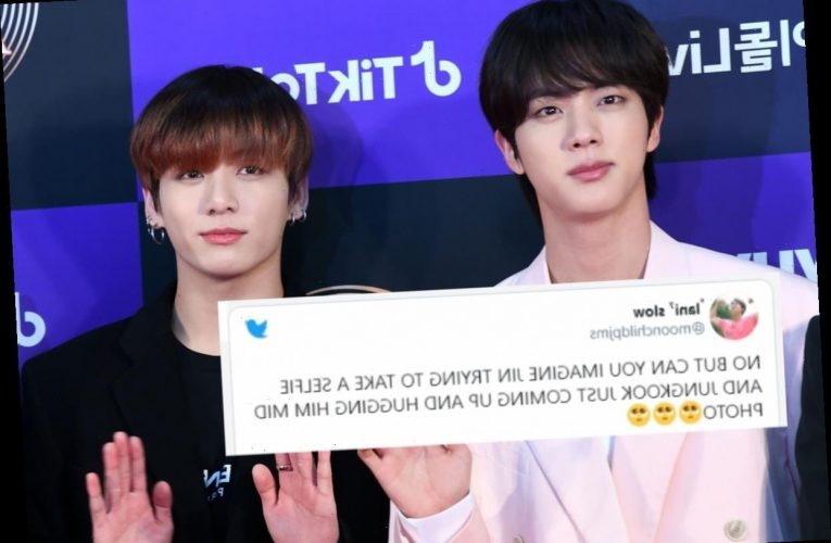 These Tweets About BTS' Jungkook Crashing Jin's Selfie While Shirtless Are A Lot