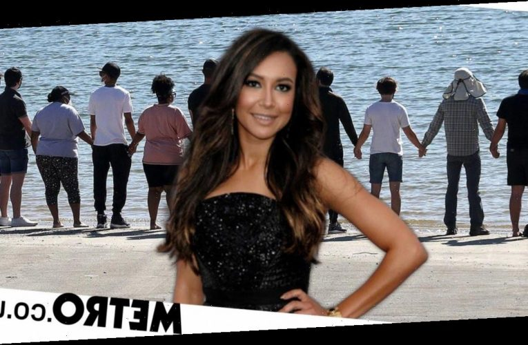 Glee stars gather with Naya Rivera's family at Lake Piru