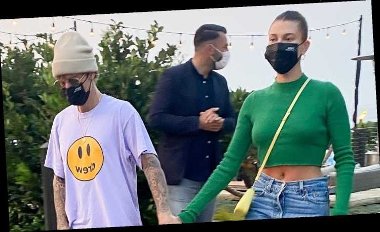 Justin Bieber Holds Hands with Hailey After Dinner at Nobu