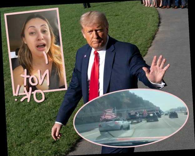 Mexican-American Actress Francia Raisa Tormented By 'F**king Dangerous' Trump Car Caravan On LA Highway!