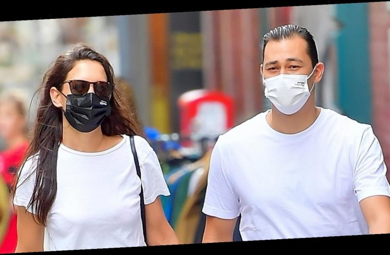 Katie Holmes Holds Hands with Boyfriend Emilio Vitolo During Stroll in NYC