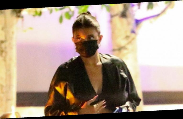 Kylie Jenner Stops by Nobu for Dinner with Friends