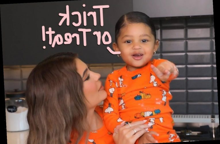 Kylie Jenner & Stormi Let Their Halloween Costumes Slip In ADORABLE Video!