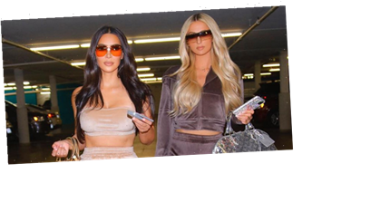 Kim Kardashian and Paris Hilton Bring Back Velour Tracksuits in Skims Campaign