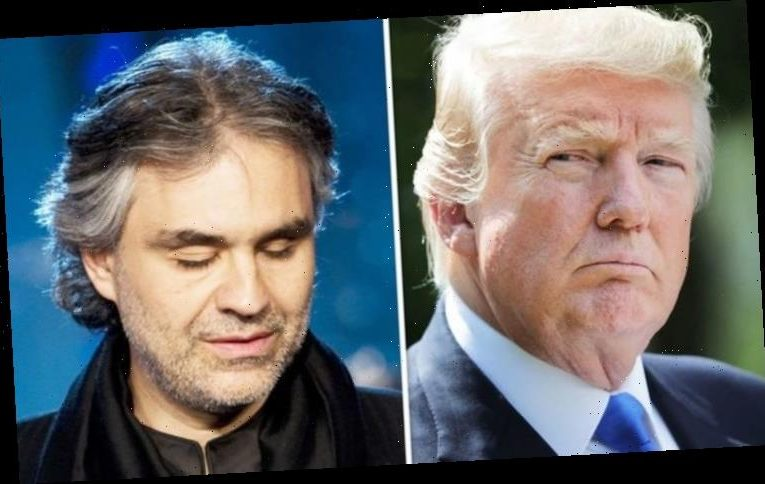 Andrea Bocelli received 'mercy of Donald Trump' after death threats
