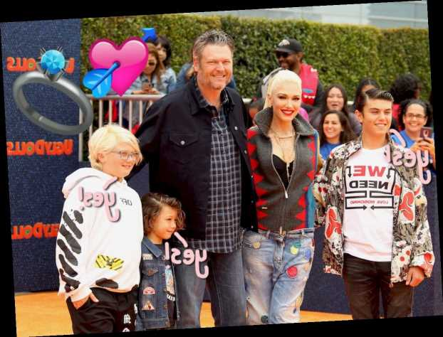 Blake Shelton Asked Gwen Stefani's Sons For 'Permission' To Propose – Aww!!