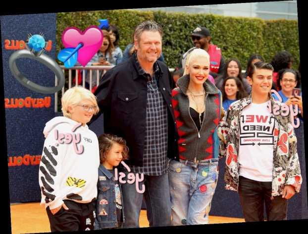 Blake Shelton Asked Gwen Stefani's Sons For 'Permission' To Propose – Aww!!