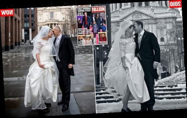 Kate Silverton recreates her wedding photos with husband Mike Heron