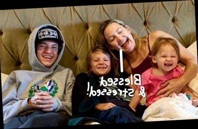 Kate Hudson Talks Struggle Of Raising Three Kids With 'Multiple Dads' During A Pandemic