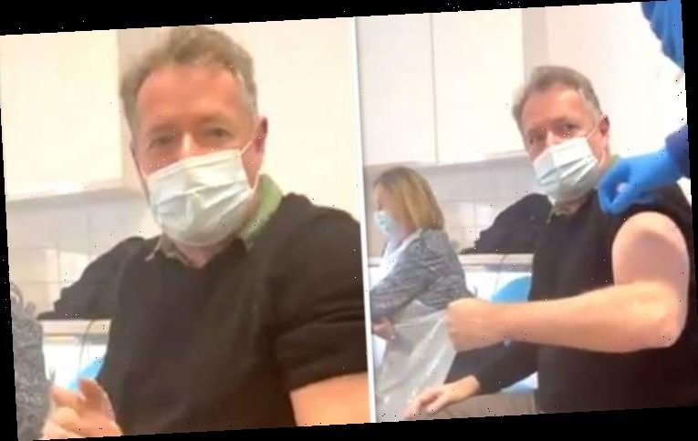 Piers Morgan films himself getting Covid vaccine: 'Working with Susanna Reid more painful'
