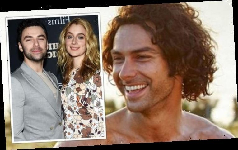 Poldark's Aidan Turner 'marries' girlfriend Caitlin Fitzgerald in 'secret ceremony'