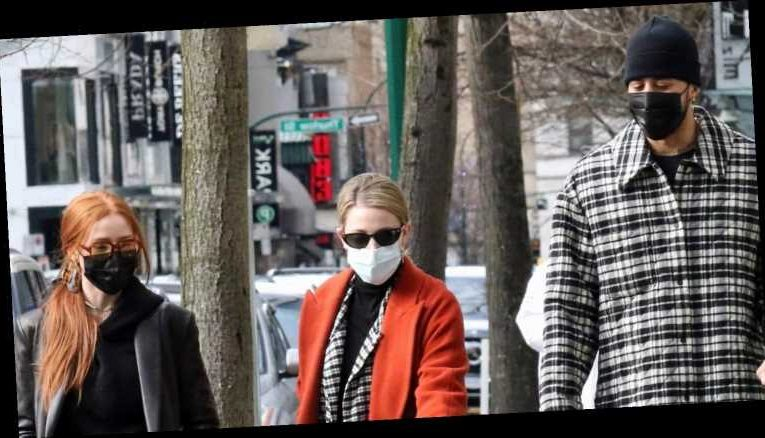 Lili Reinhart Joins Madelaine Petsch & Miles Chamley-Watson For Dog Walk In Canada
