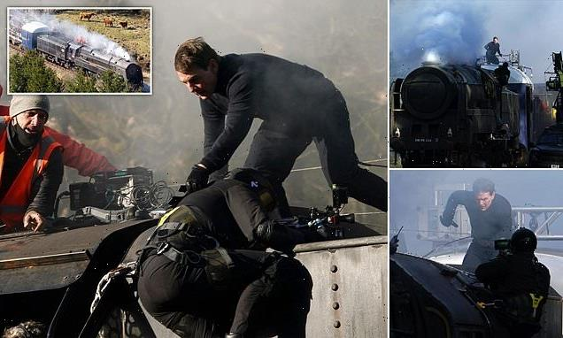 Tom Cruise and Hayley Atwell RUN on a train for Mission Impossible 7