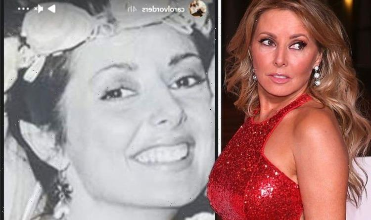 Carol Vorderman brands herself a 'bad bride' over see-through wedding outfit in throwback
