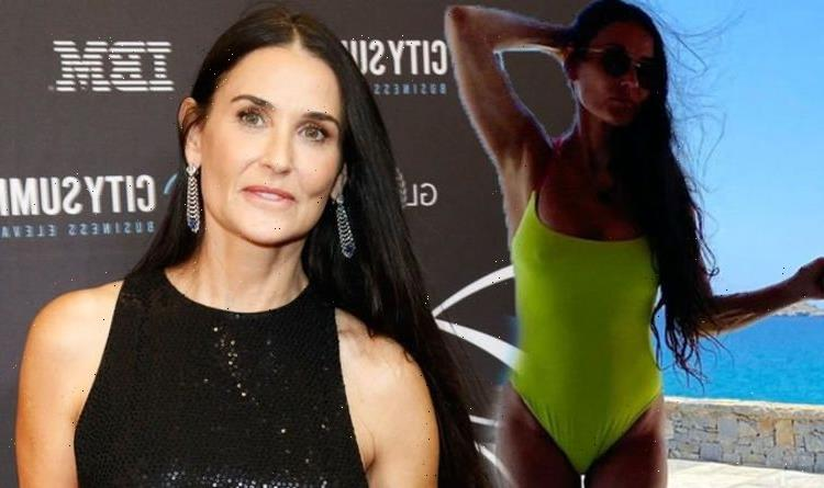 Demi Moore sends fans wild in eye-popping swimsuit as star showcases ageless beauty