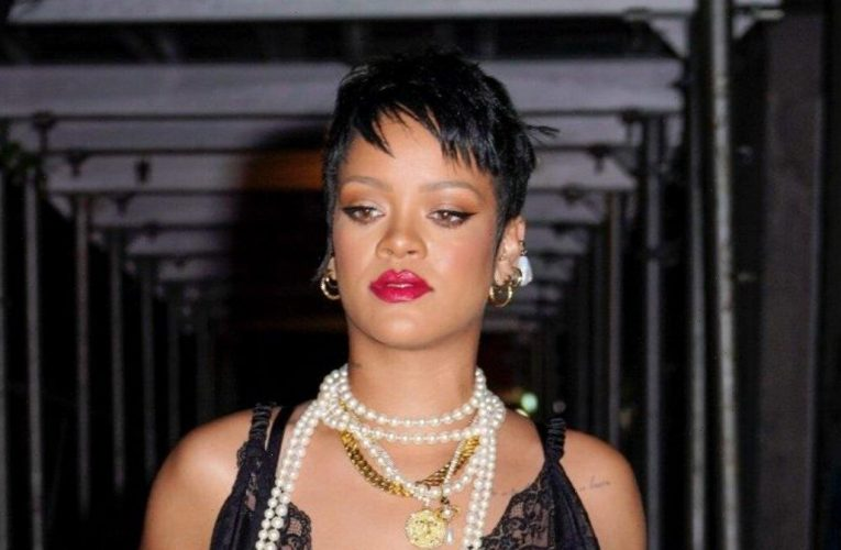 Rihanna Wore a Sheer Tube Top to Breakfast