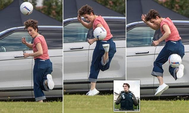 Line of Duty's Vicky McClure shows off her impressive football skills