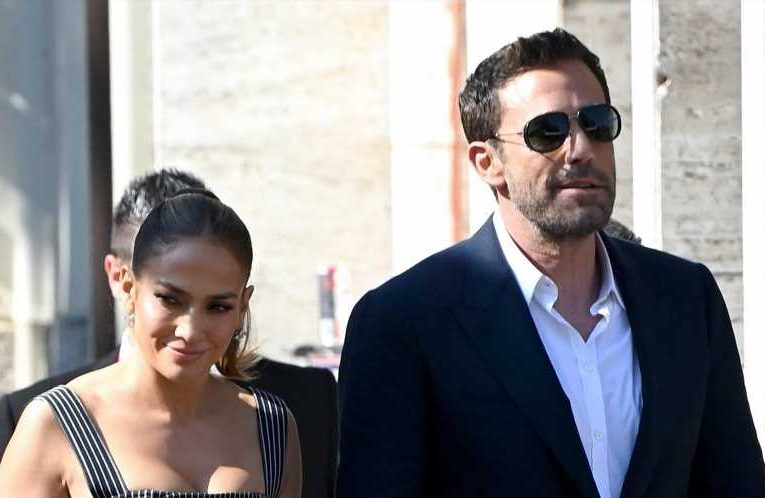 Jennifer Lopez Wore a Striped Corset Dress in Venice