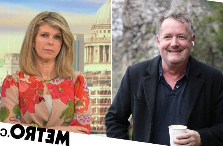 Piers Morgan hugs Kate Garraway as he reunites with former GMB co-host