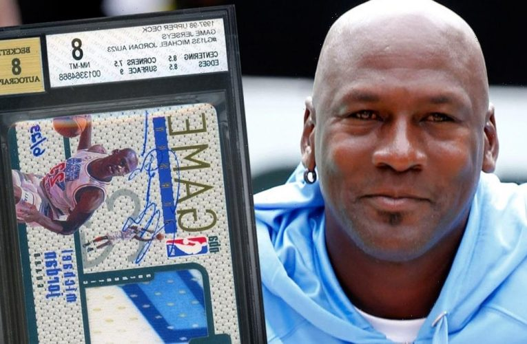 Michael Jordan Signed Game-Worn Patch Card Sells For Record $2.7 Mil
