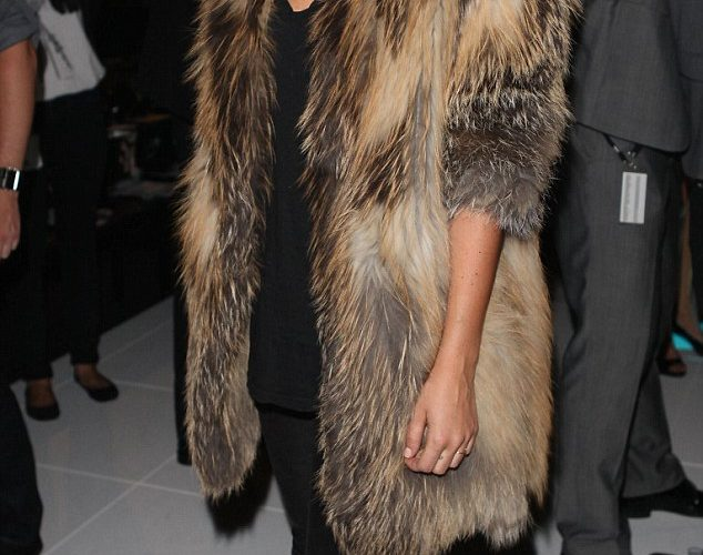 Celebrities in fur coats