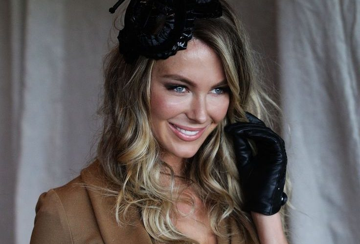 Picture of celebrities wearing satin, lace or leather gloves…