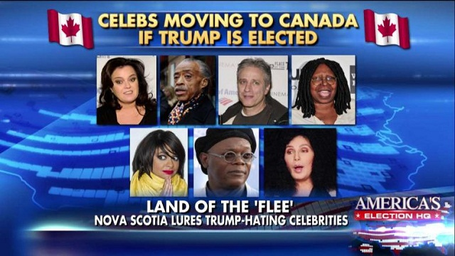 Celebrities leaving america