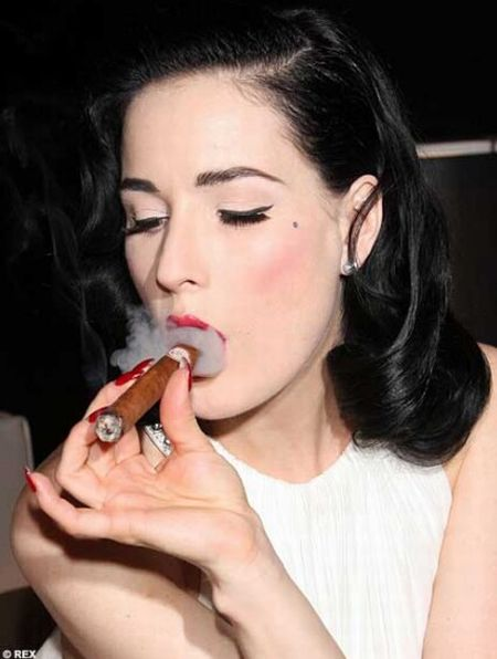 Celebrities smoking cigars