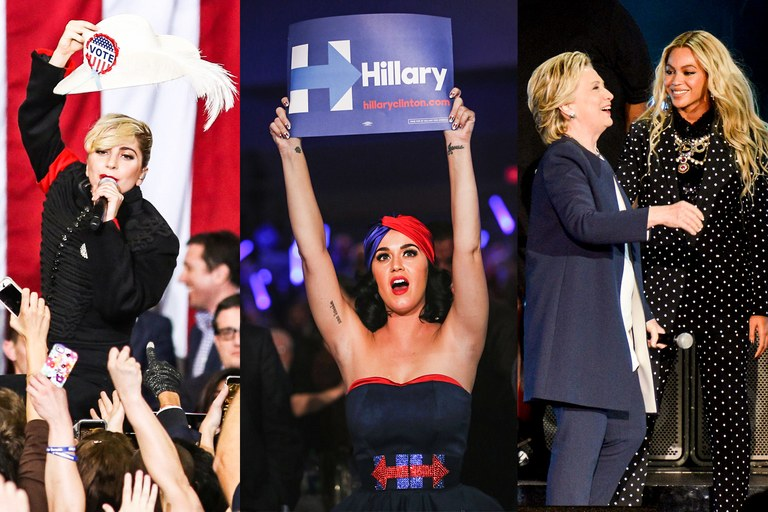 Celebrities supporting hillary