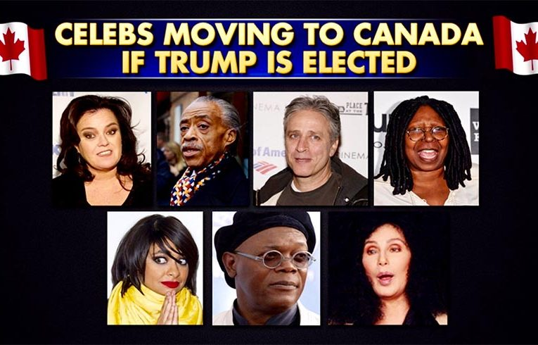 Celebrities that will move if trump