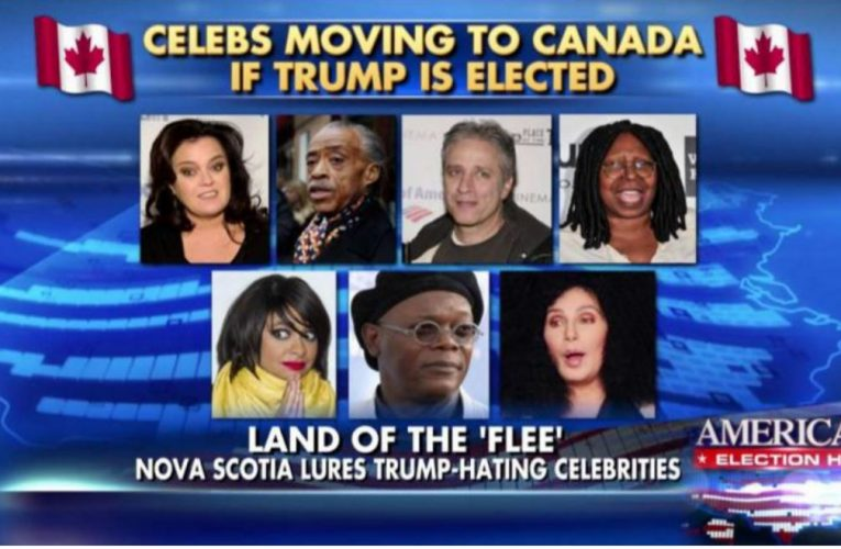 Celebrities who will leave if trump