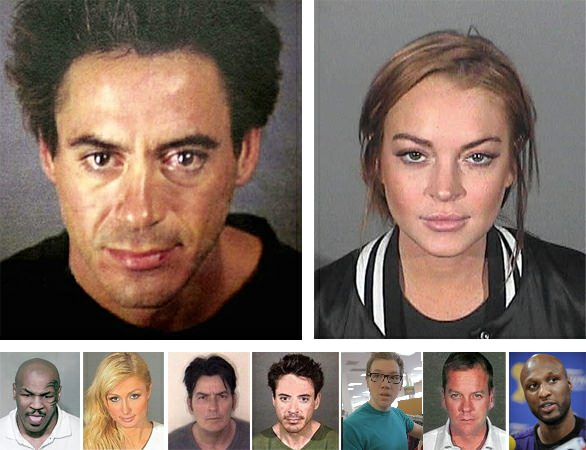 Celebrities with addictions