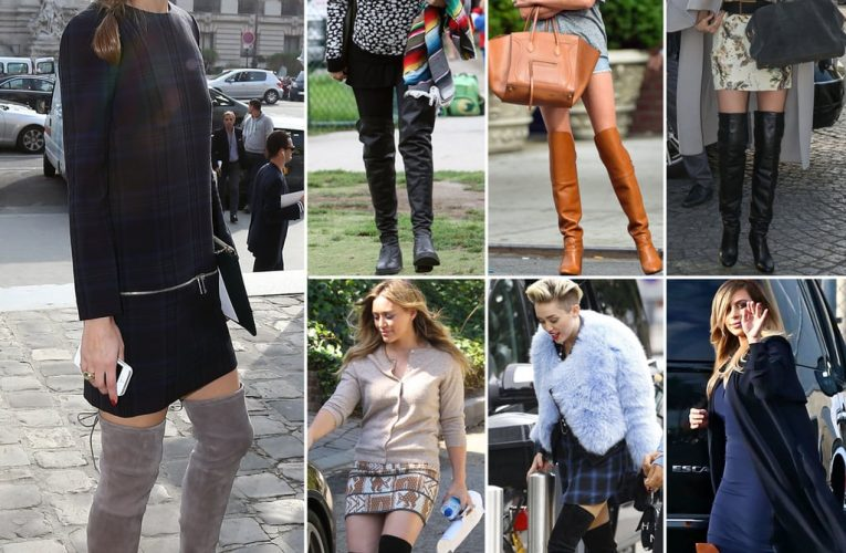 Celebrity knee high and over the knee boots…