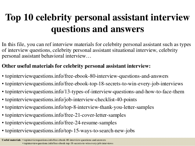 Questions to ask celebrities