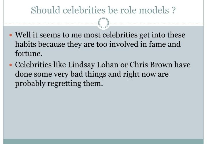 A role model is an admirable person looked to …