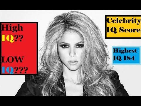 Smartest celebrities iq