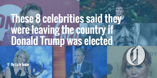 What celebrities are leaving the country
