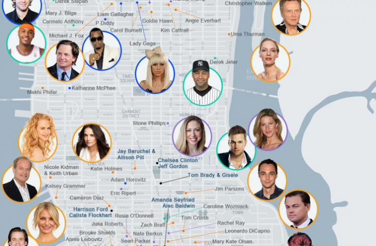 Where do celebrities live in nyc