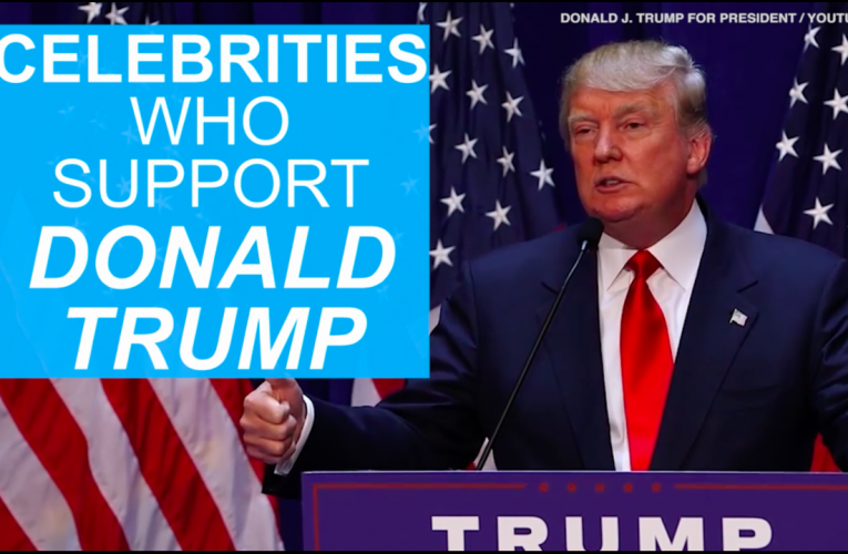 Which celebrities support donald trump